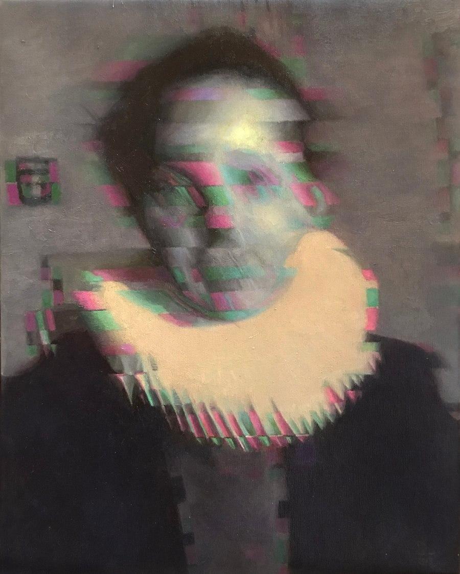 Diego Palacios Dark Surrealism Oil Painting