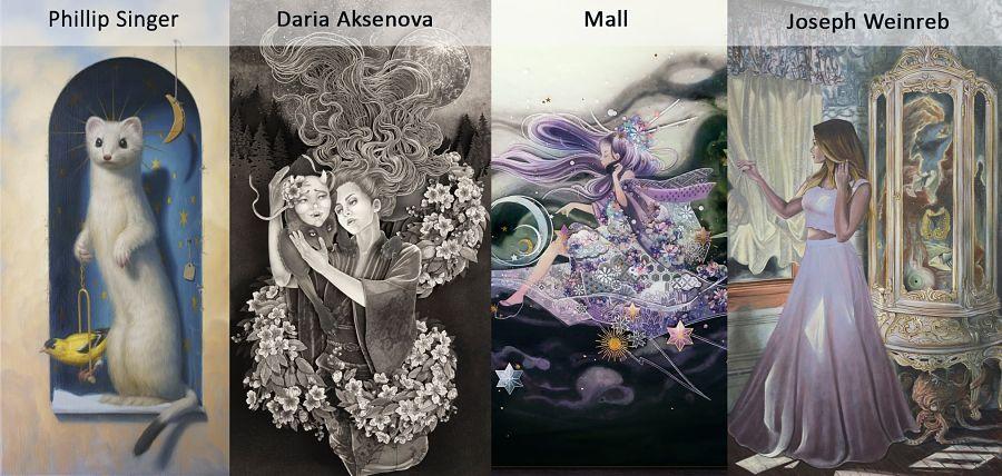 Phillip Singer, Daria Aksenova, Mall, Joseph Weinreb at Haven Gallery