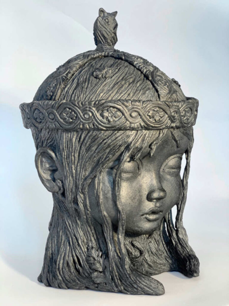 Liz McGrath girl bust sculpture
