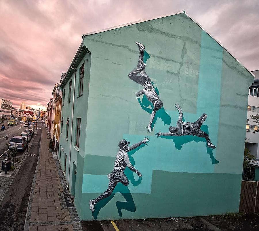 STRØK large mural street art