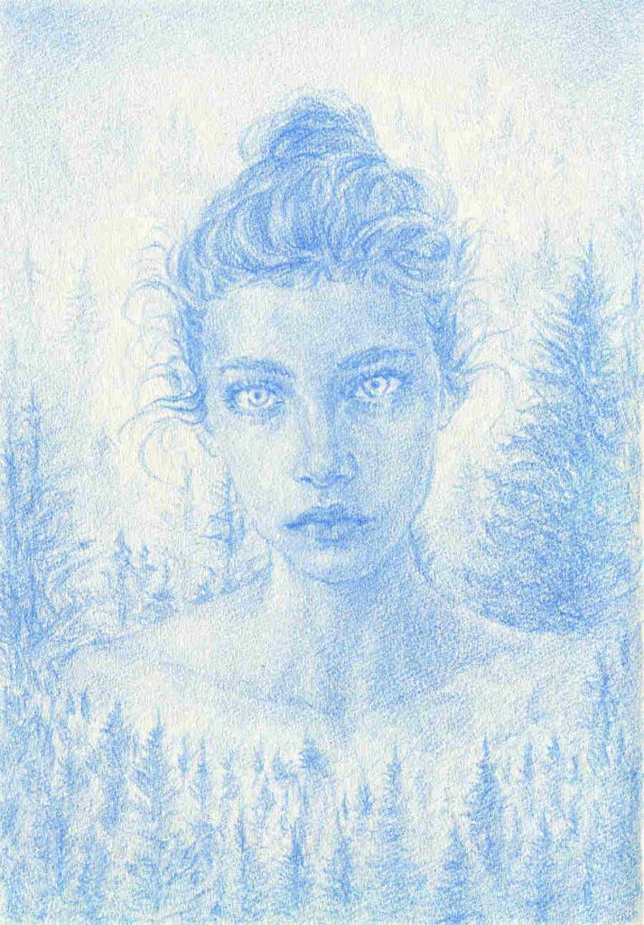 Uniquelab forest blue portrait