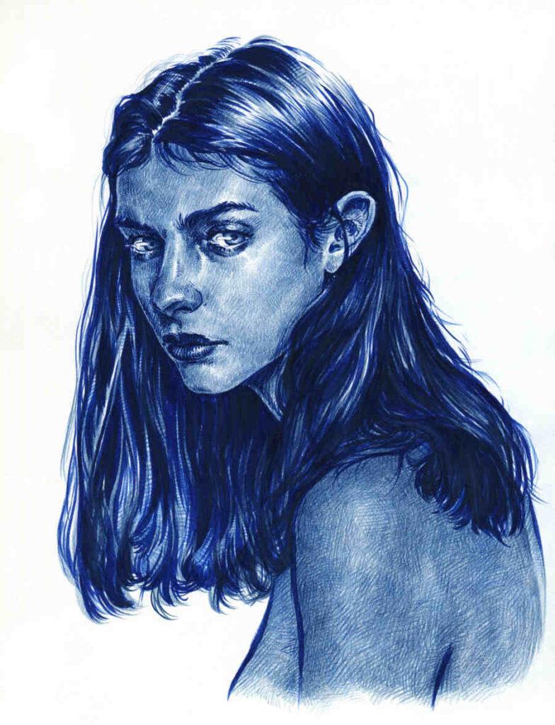 Uniquelab bleu blue portrait