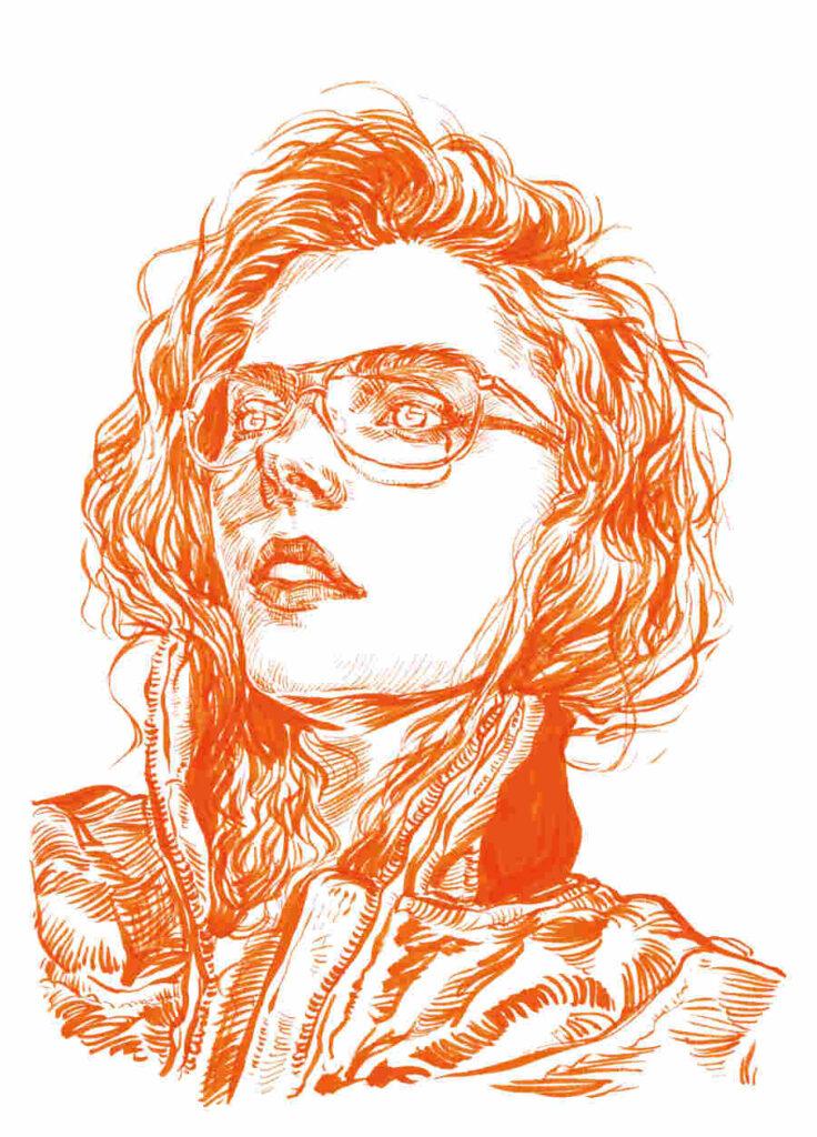 Uniquelab Tangerine glasses portrait