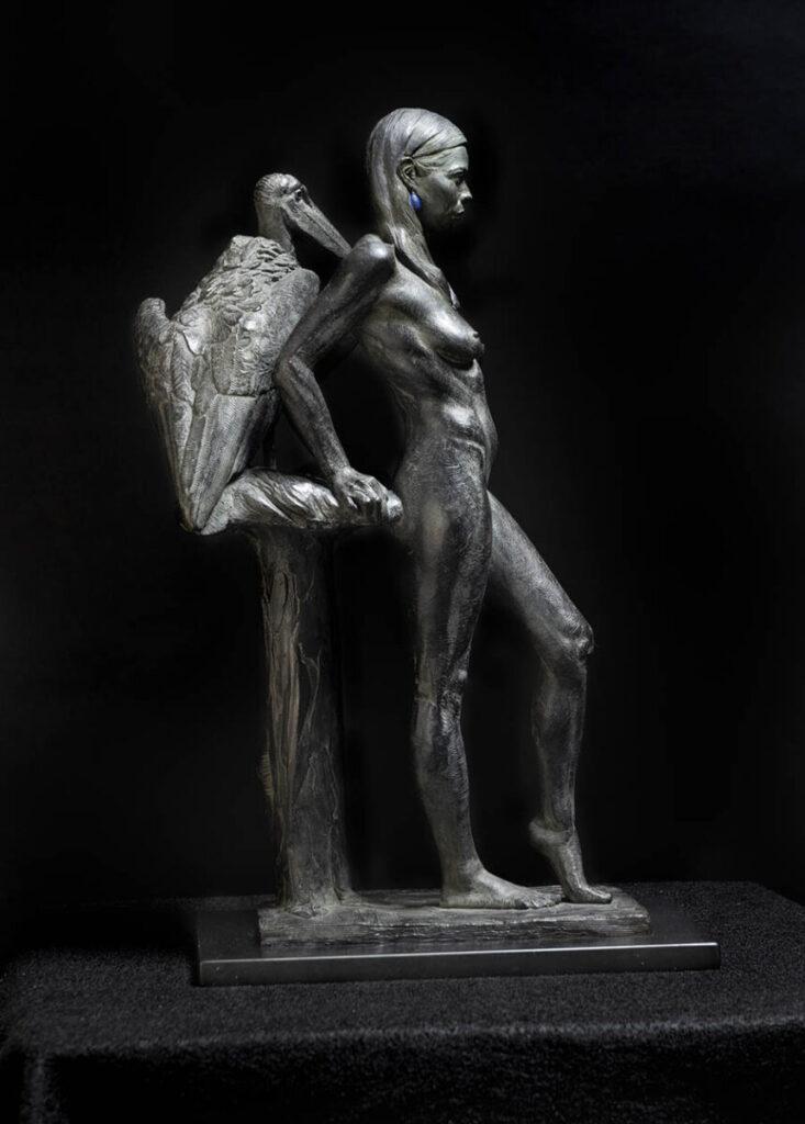 Adam Matano nude woman bronze sculpture