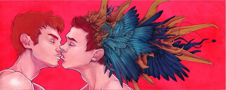 Aedan Roberts boys kissing IX Online