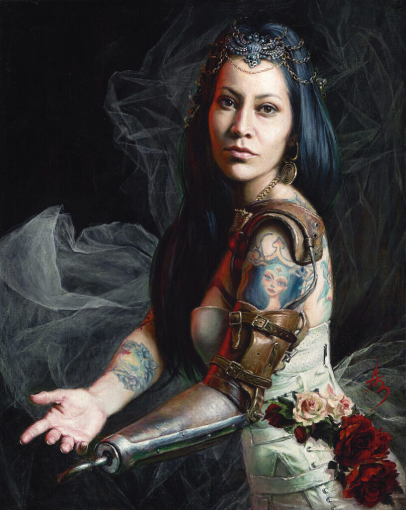Alexandra Manukyan superhero exhibition Stone Sparrow NYC