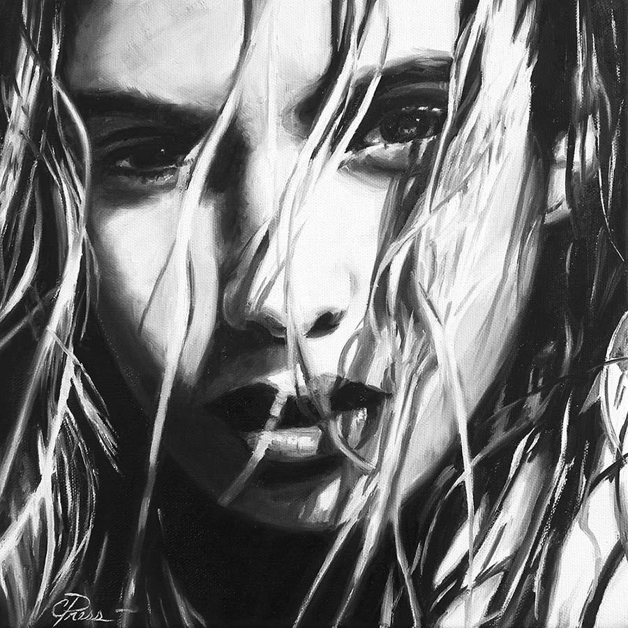 Cindy Press black and white portrait
