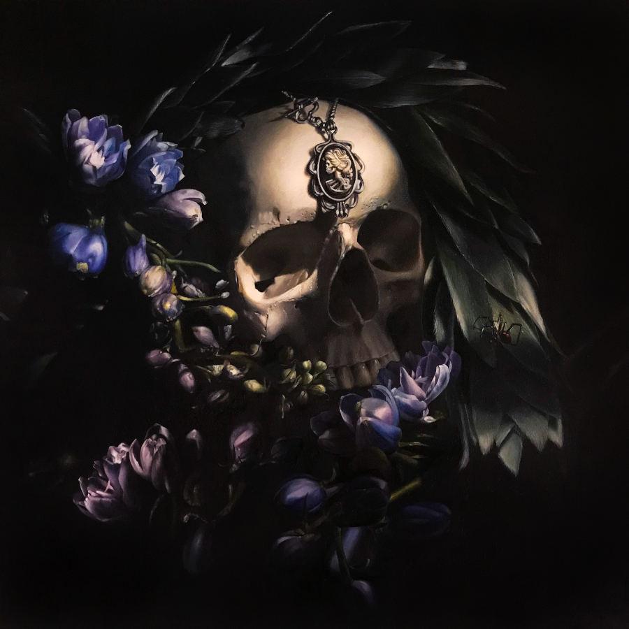 Clare Toms purple skull