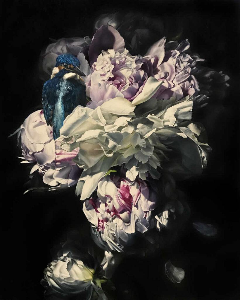 Clare Toms floral still life painting