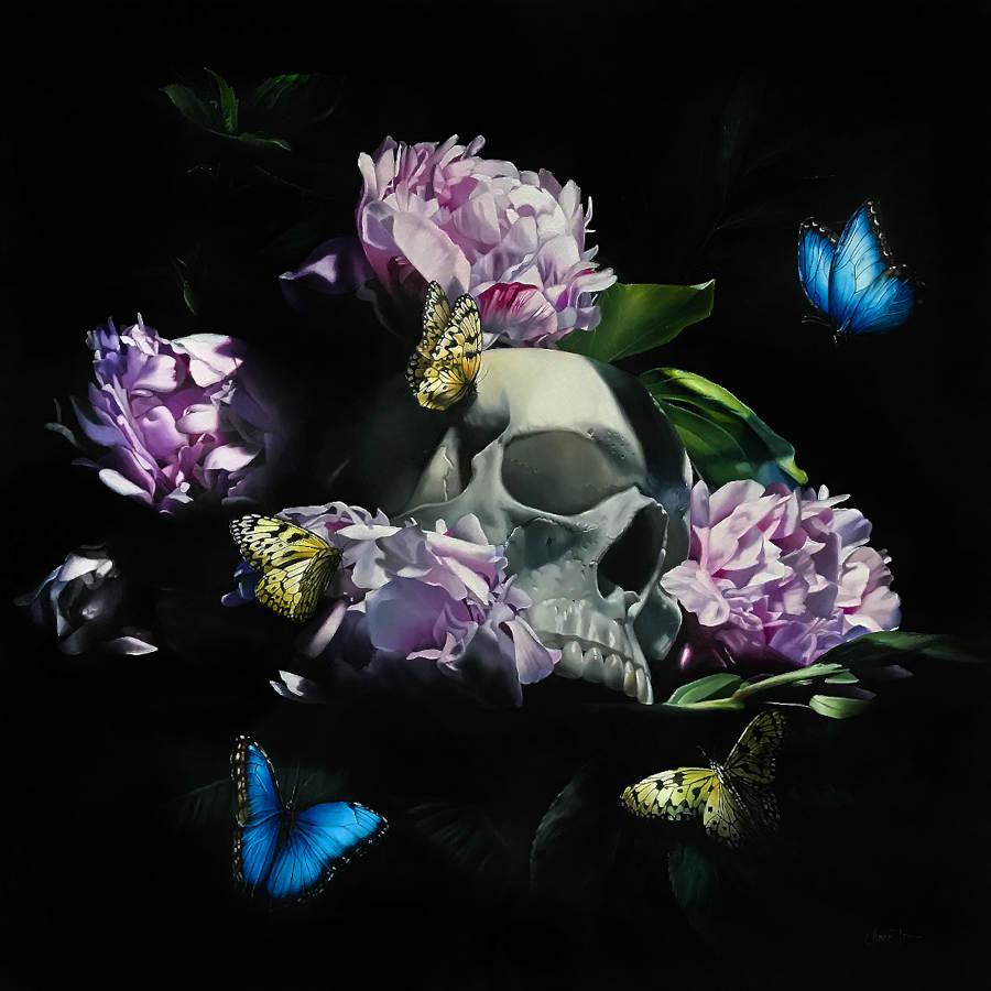 Clare Toms skull dark art