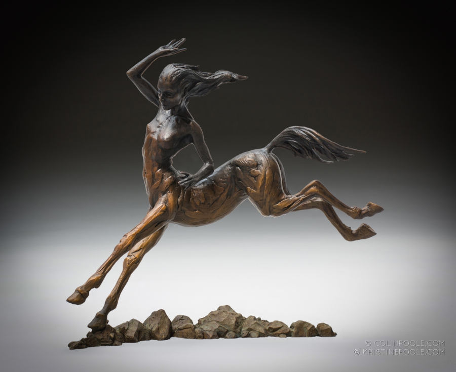 Coline Kristine Poole bronze centaur