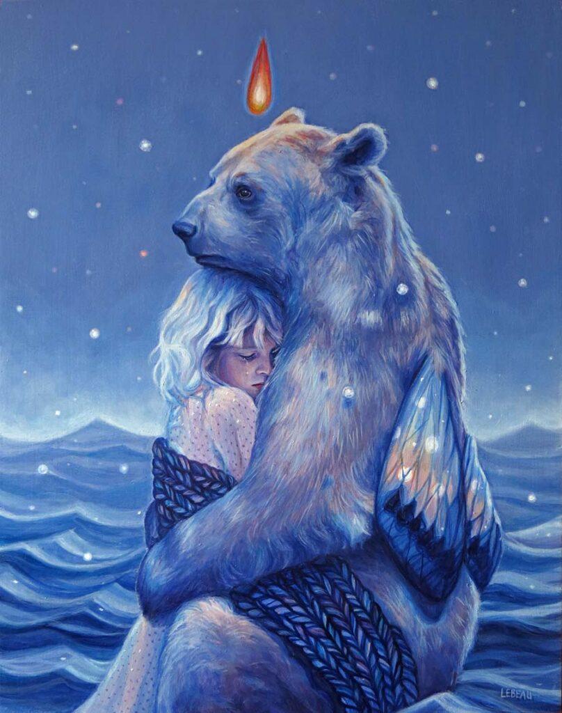 Edith Lebeau bear and girl