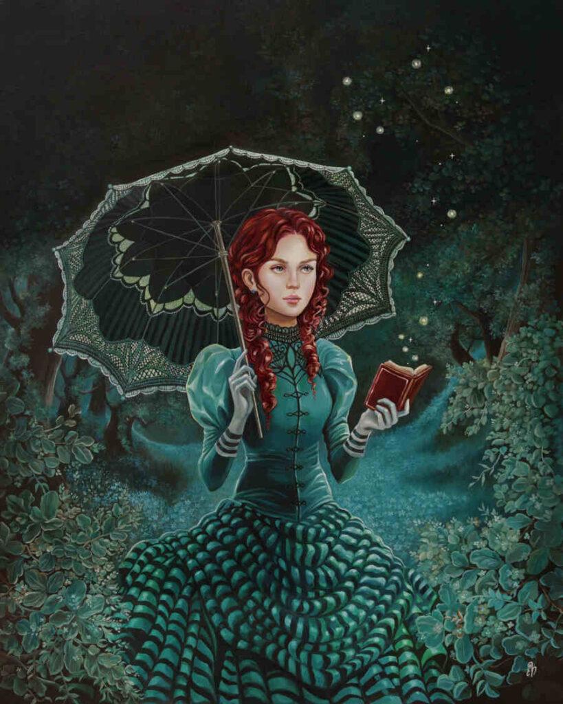 Eeva Nikunen Victorian red hair girl