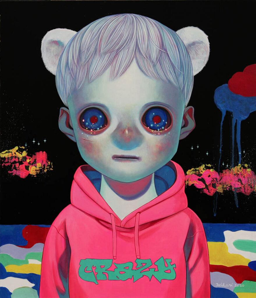 Hikari Shimoda  blue boy painting