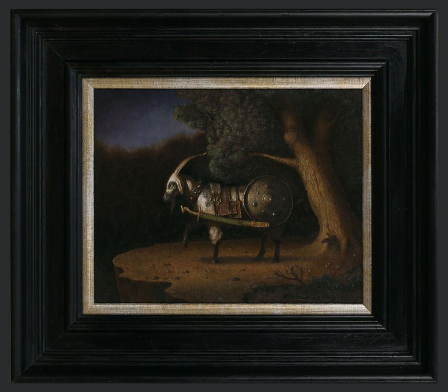 Igor Krstic goat painting Dark Art Society