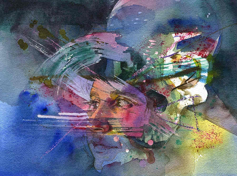 Joanna Barnum colourful female portrait