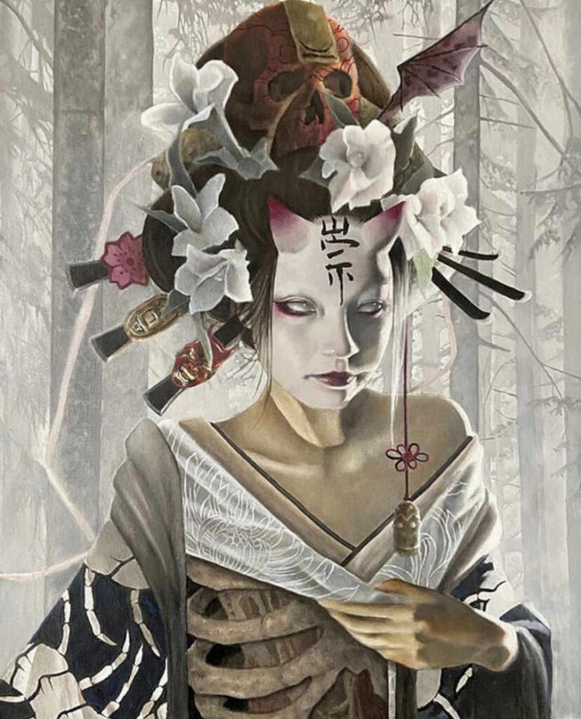 Jozef Bican ghost macabre geisha