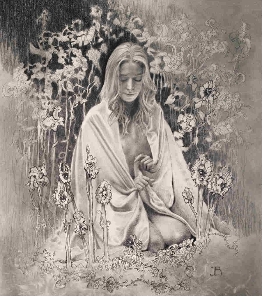 Julie Bell graphite woman