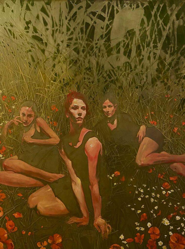 Michael Carson three women Midnight Garden