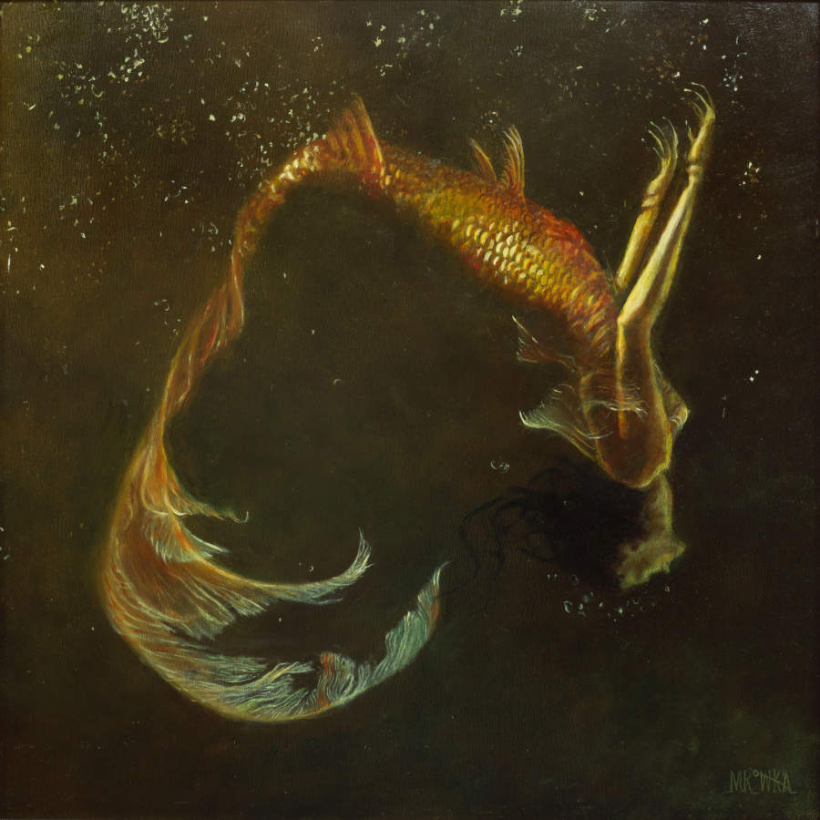Michelle Mrowka golden mermaid
