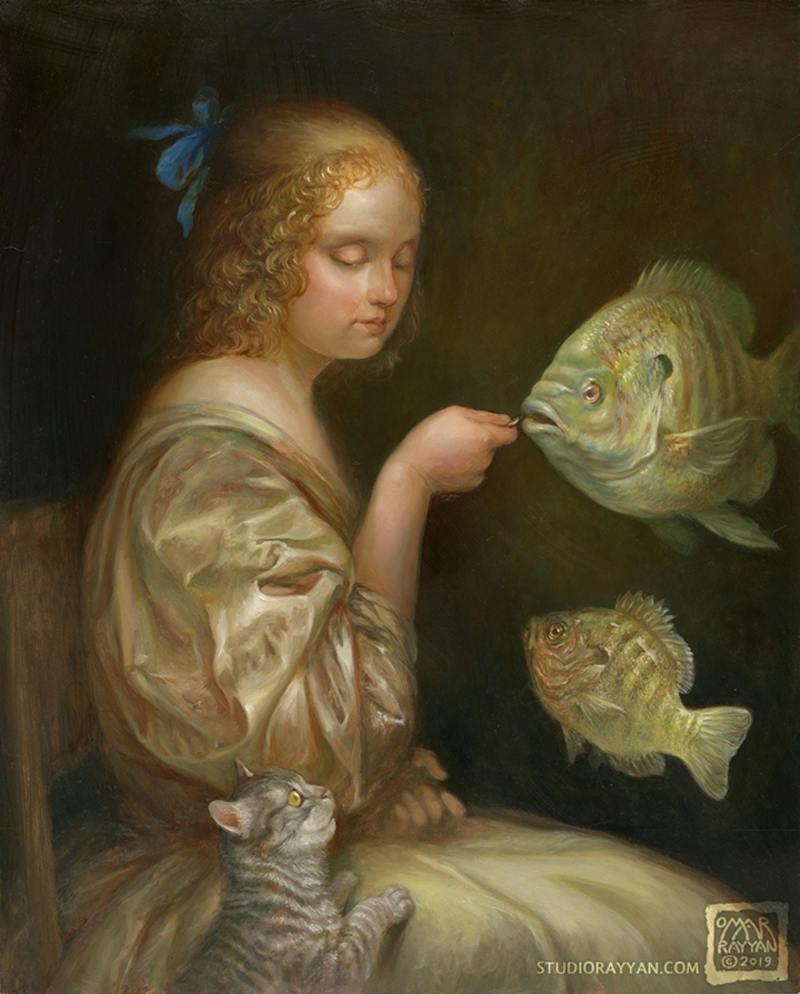Omar Rayyan girl and fish