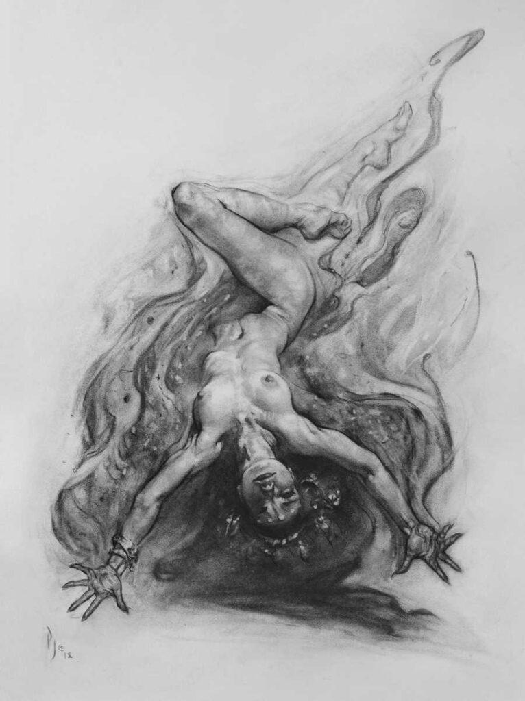Patrick Jones pencil drawing nude IX Online