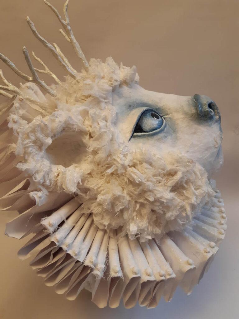 Rebecca Smith Snow Bear paper sculpture