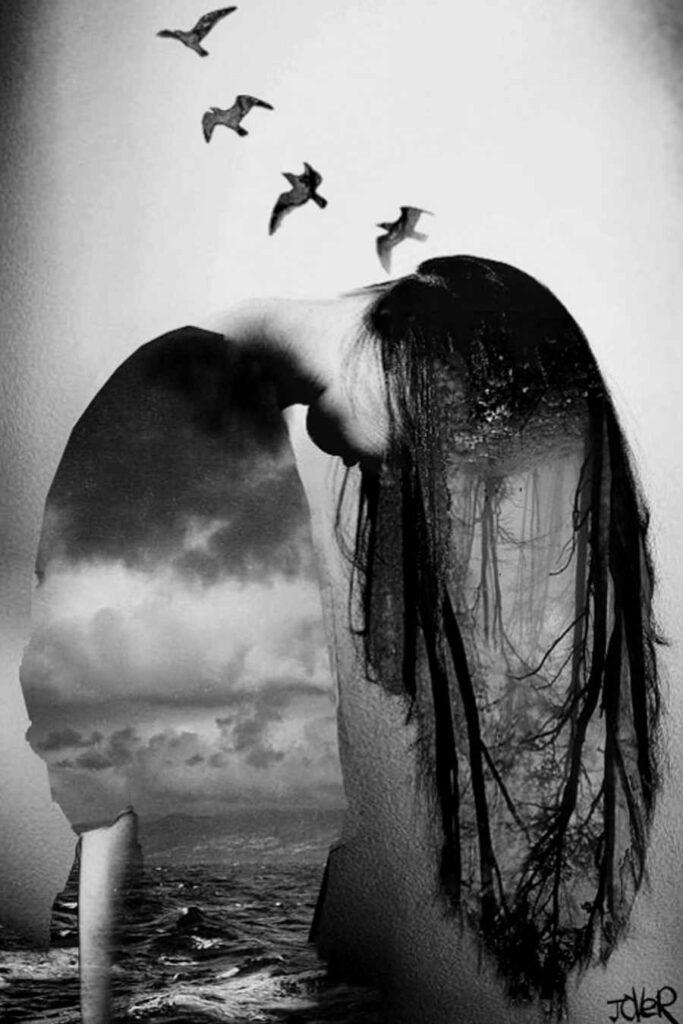 Loui Jover black white collage photo iCanvas