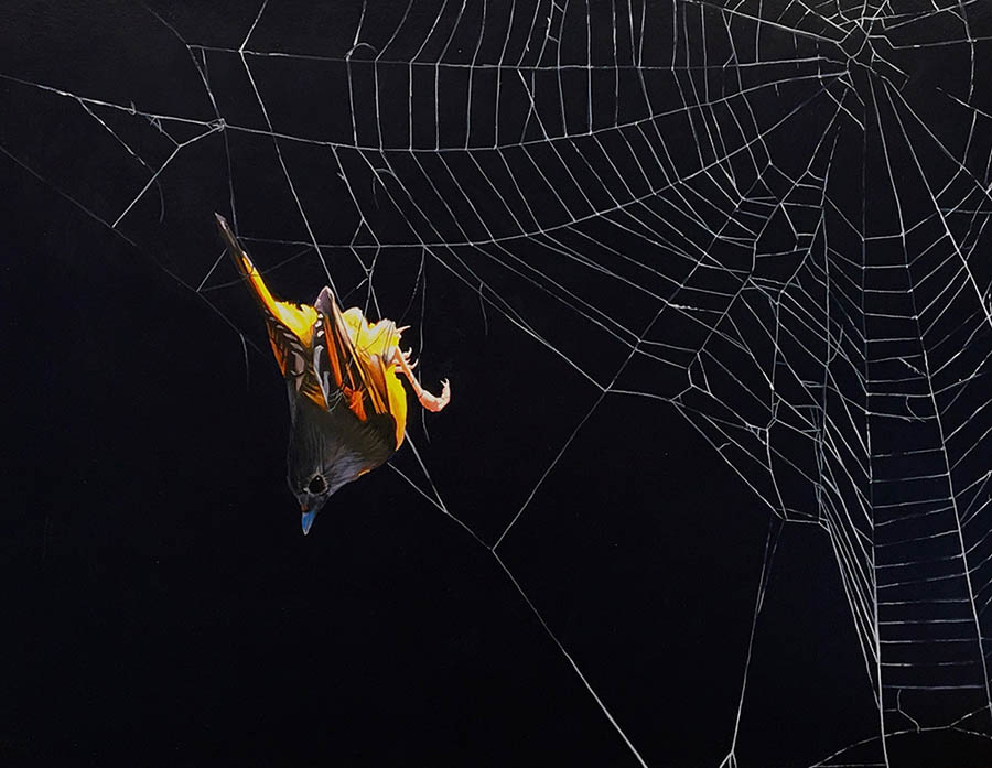 "Josh Keyes ""Dream Catcher"" painting   for Midnight Garden"