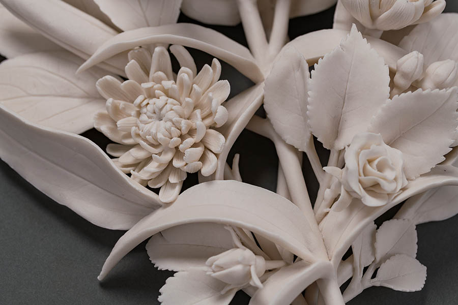 Kate MacDowell Memoriam, Hand built porcelain sculpture