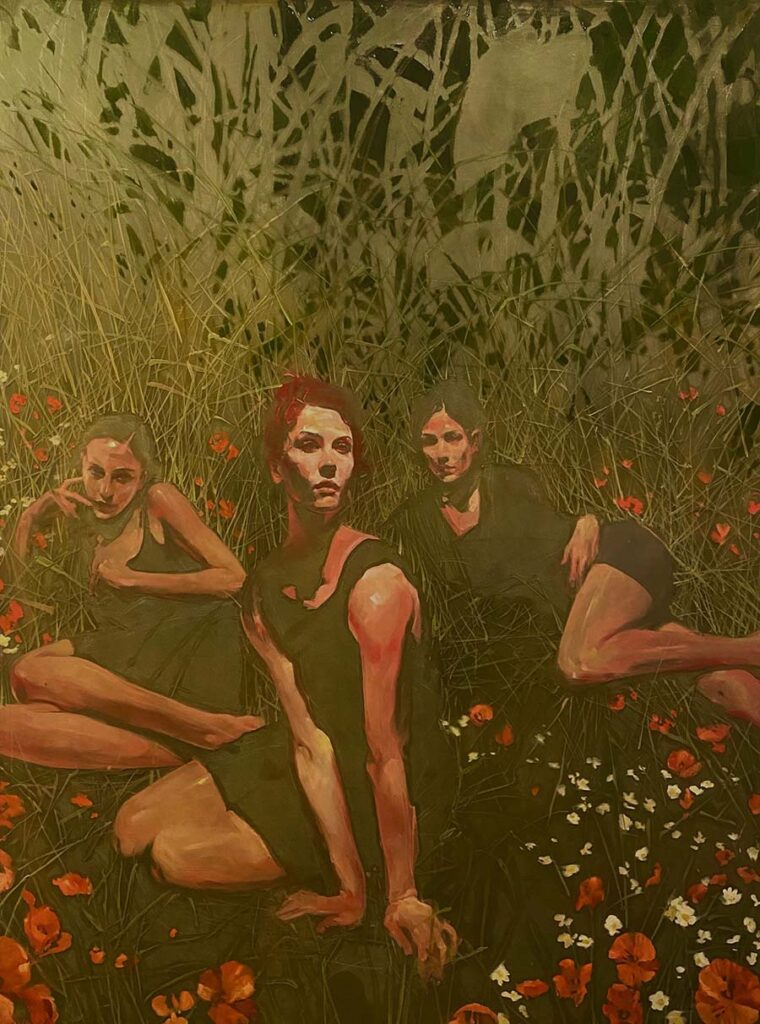 "Michael Carson ""Guardians"", oil painting for Midnight Garden"