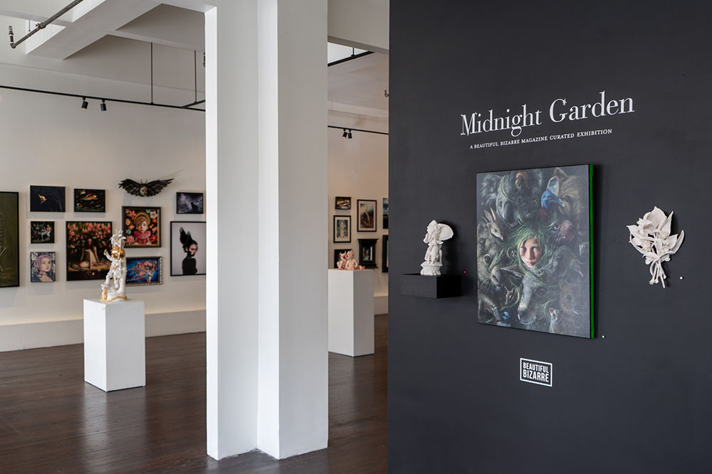 Beautiful Bizarre curated Midnight Garden exhibition at Modern Eden