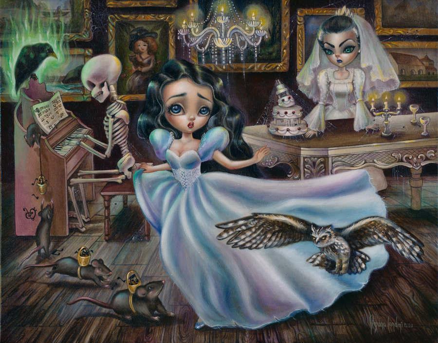 Miss Havisham lowbrow pop art painting