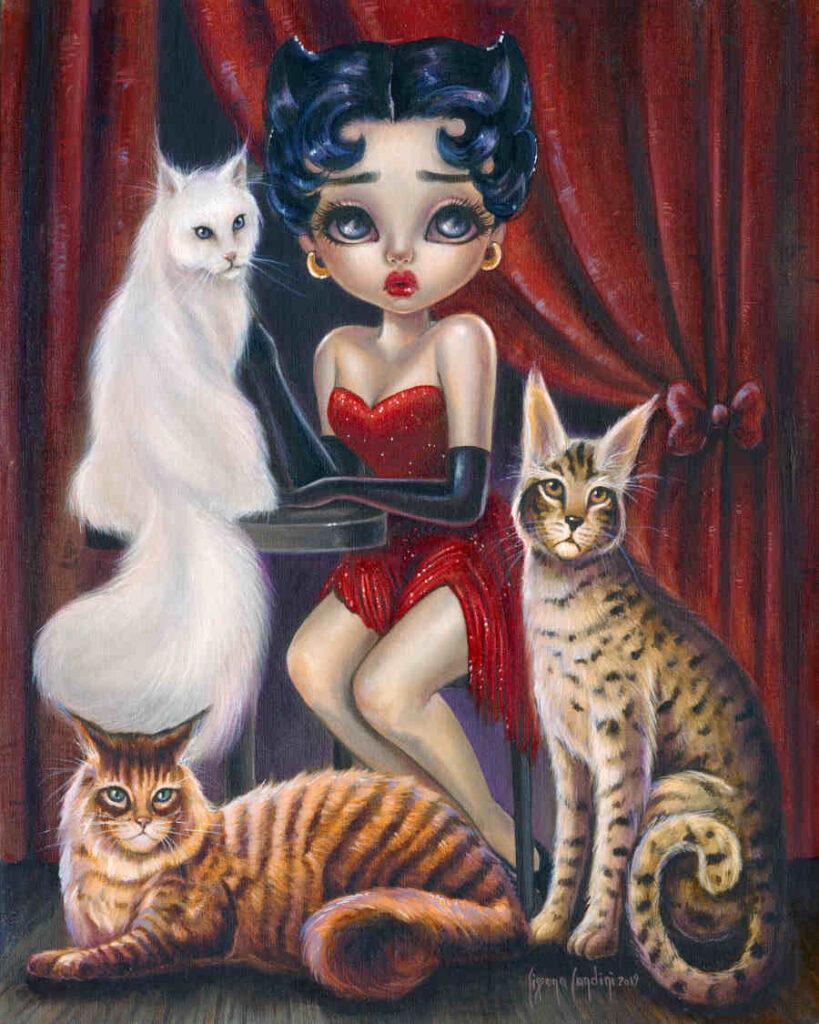 Betty Boop big eyes painting