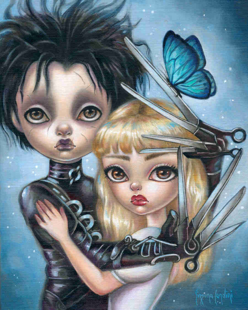 Edwards Scissor Hands pop art painting