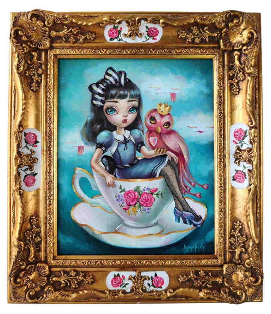 teapot pop lowbrow painting Simona Candini
