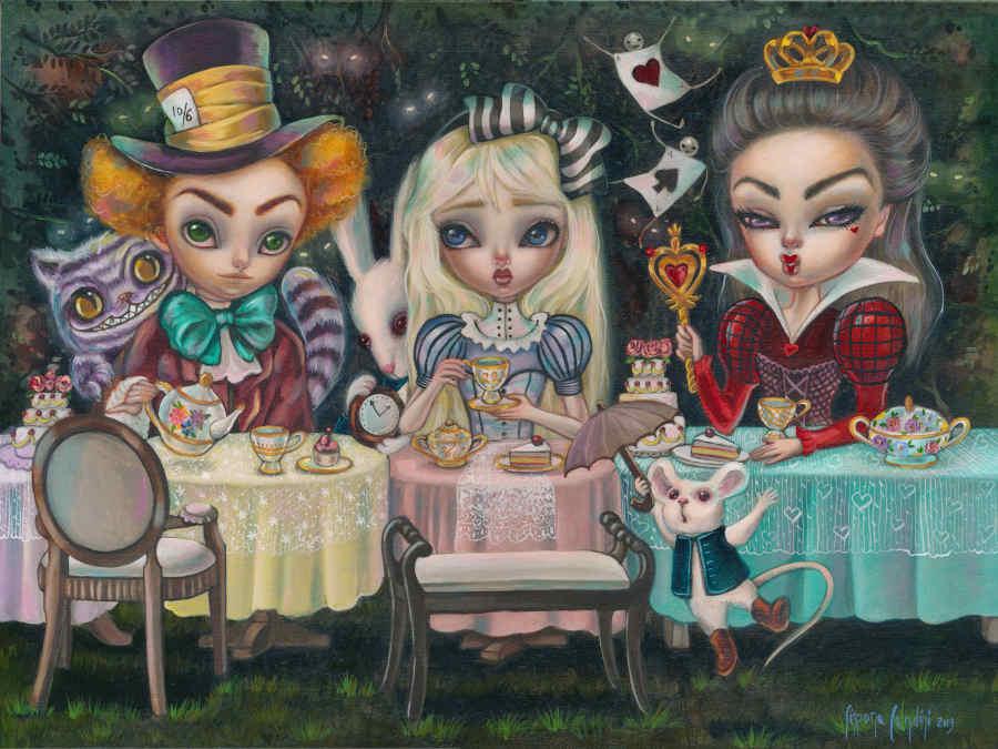 alice in wonderland tea part red queen