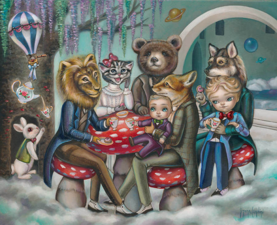 animal painting tea party