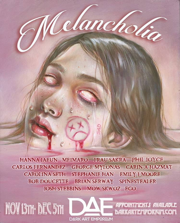 """""""Melancholia"""" Group Exhibition at The Dark Art Emporium"""