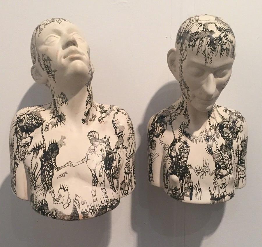 RIchard Stipl surreal Tattooed figures