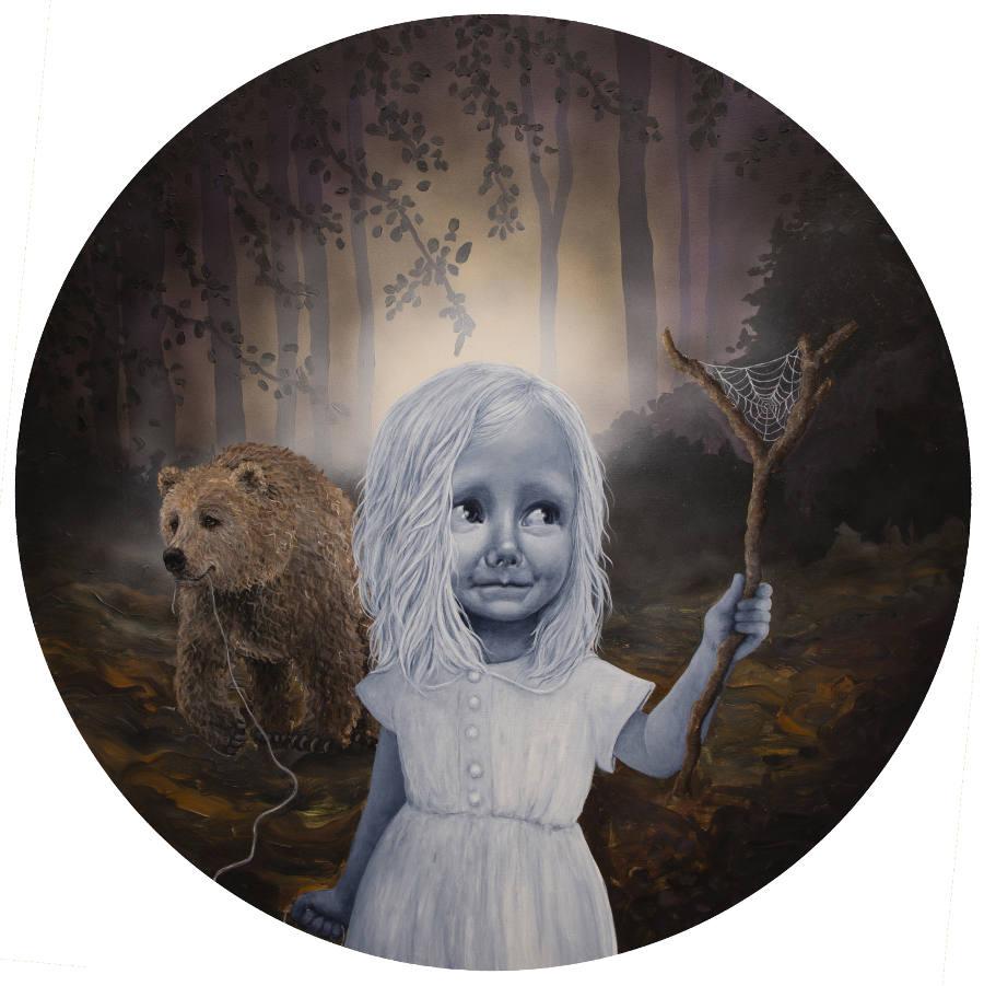 Anne Juul Chrisophersen bear and girl painting