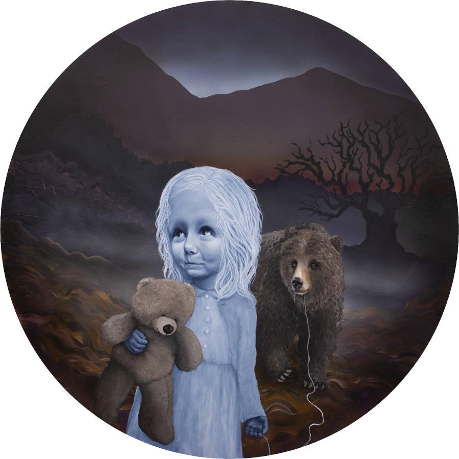 Anne Juul Chrisophersen bear girl painting