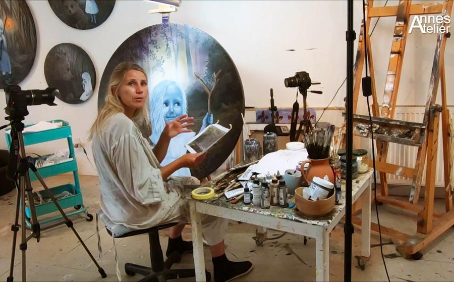 Anne Juul Chrisophersen studio art school
