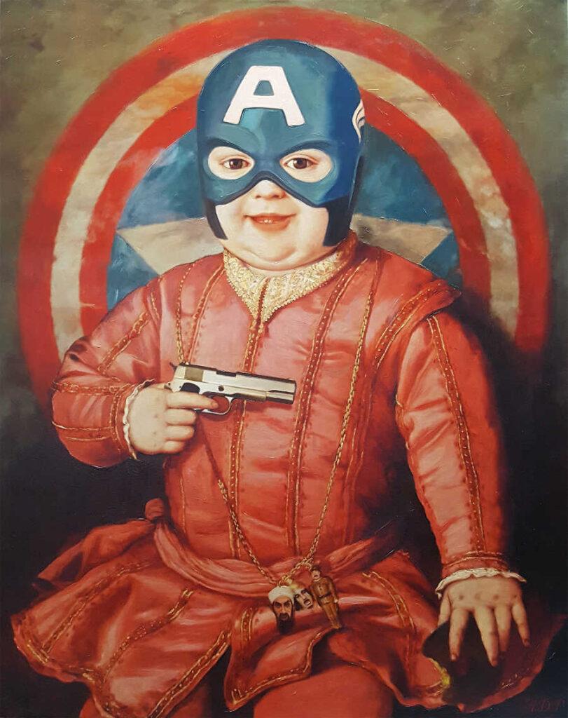 Antonio Del Prete American baby painting