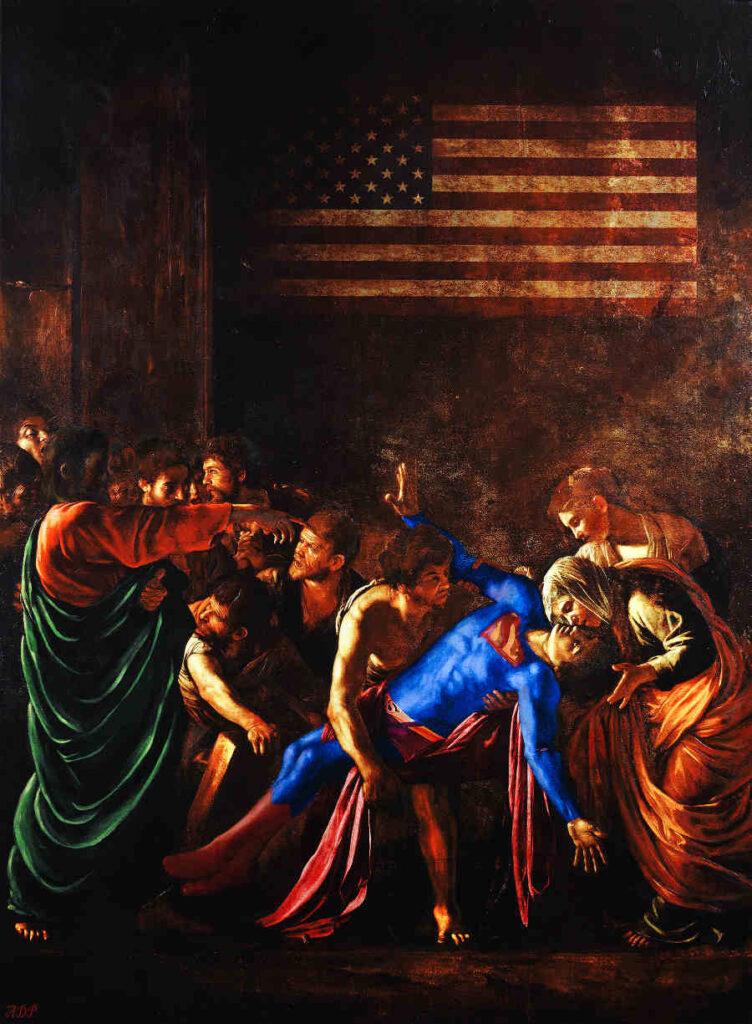 Antonio Del Prete Superman classical painting
