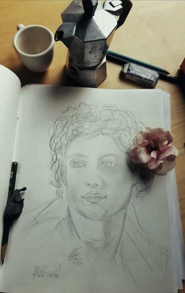 Antonio Del Prete pencil portrait sketch