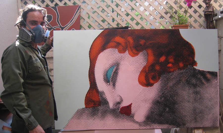 Antonio Del Prete street art spray paint