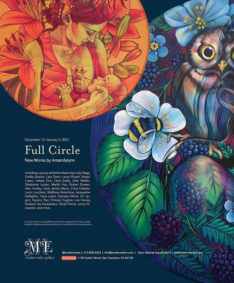 "Amandalynn ""Full Circle"" Solo Exhibition at Modern Eden Gallery"