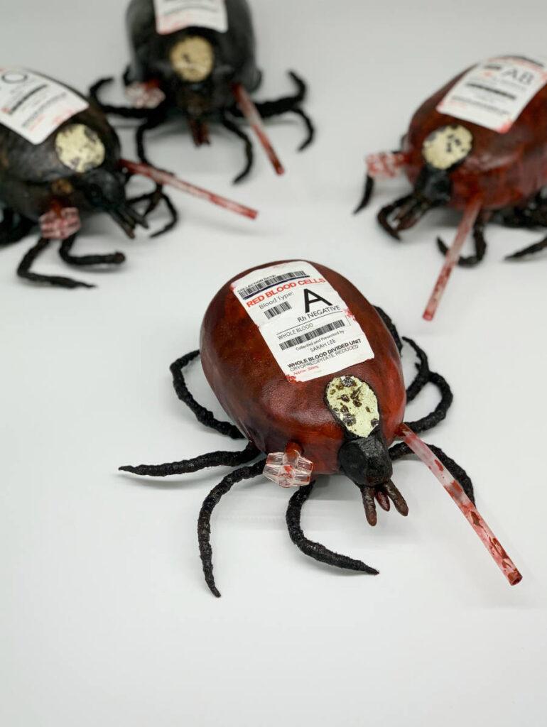 Sarah Lee Blood Tics sculpture