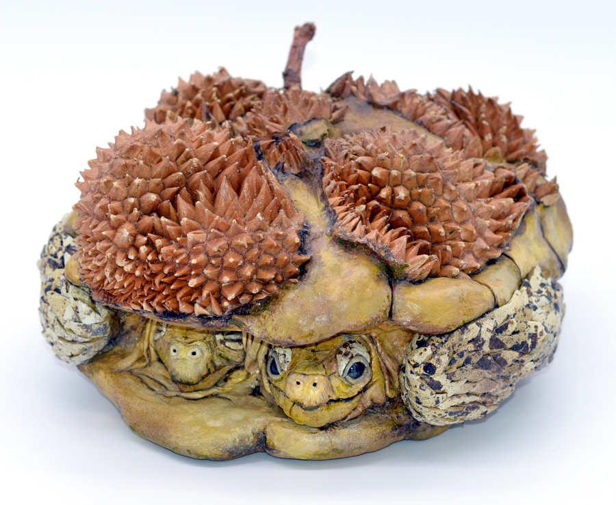 Sarah Lee durian turtle sculpture